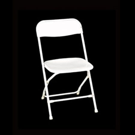 Folding Chair, White Samsonite
