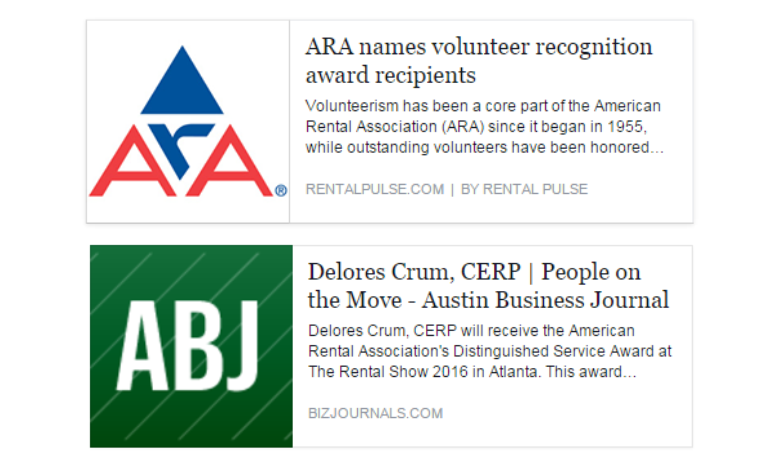 american rental association award