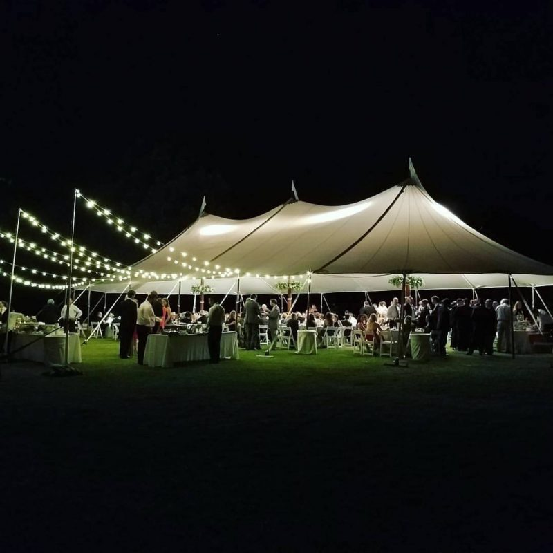 Tidewater Tent at Night