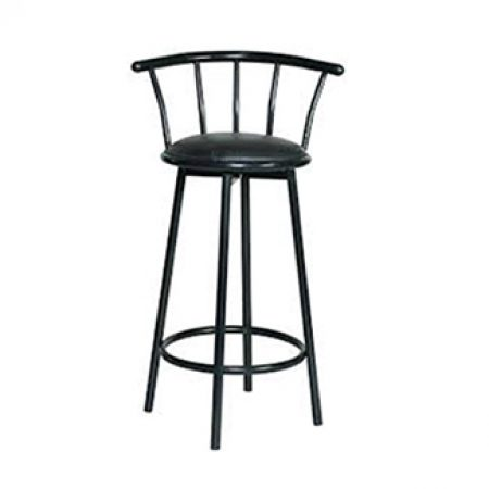 Bar Stool, Black Swivel