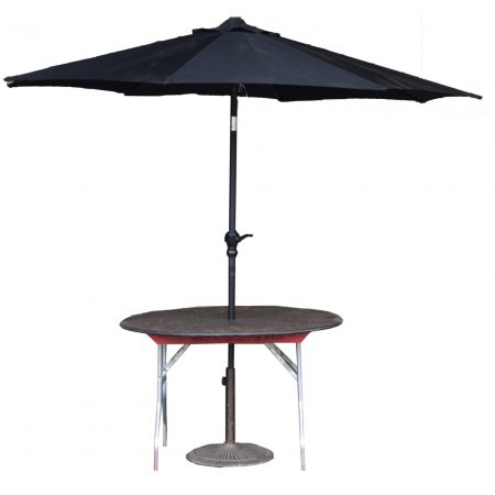 Table, Round With Umbrella