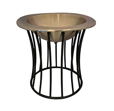 Beverage Cooler, Wrought Iron Floor Stand