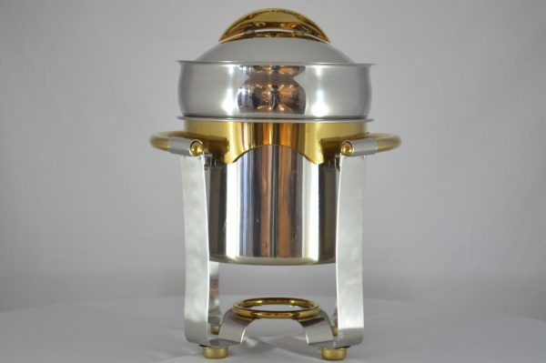 Marmite Soup Chafer, Gold Accent