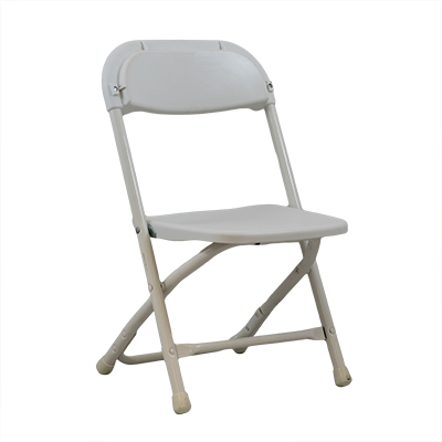 Childrens White Plastic Chair