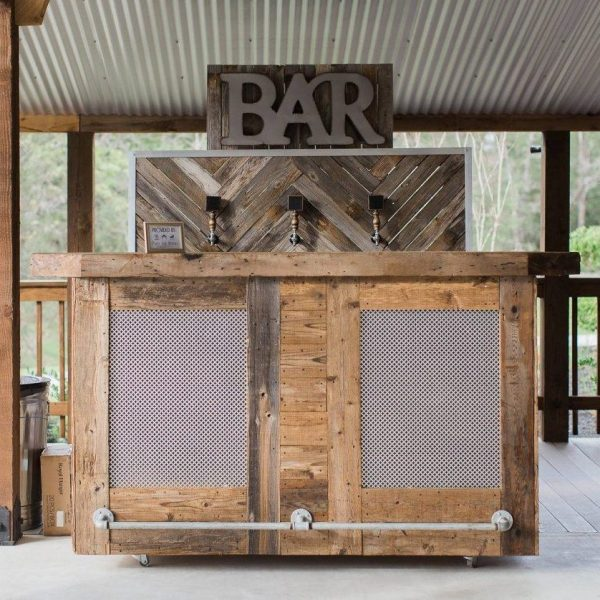 Roadhouse Bar with VO Wood Bar Backdrop