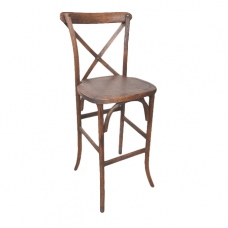 BEECHWOOD X-BACK BAR STOOL