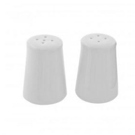 White Porcelain Salt & Pepper Shakers