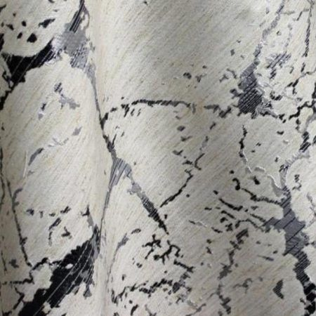 Black-Silver Metallic Marble Rental Linen