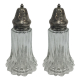 Large Two Piece Salt and Pepper Shakers for Silver Top