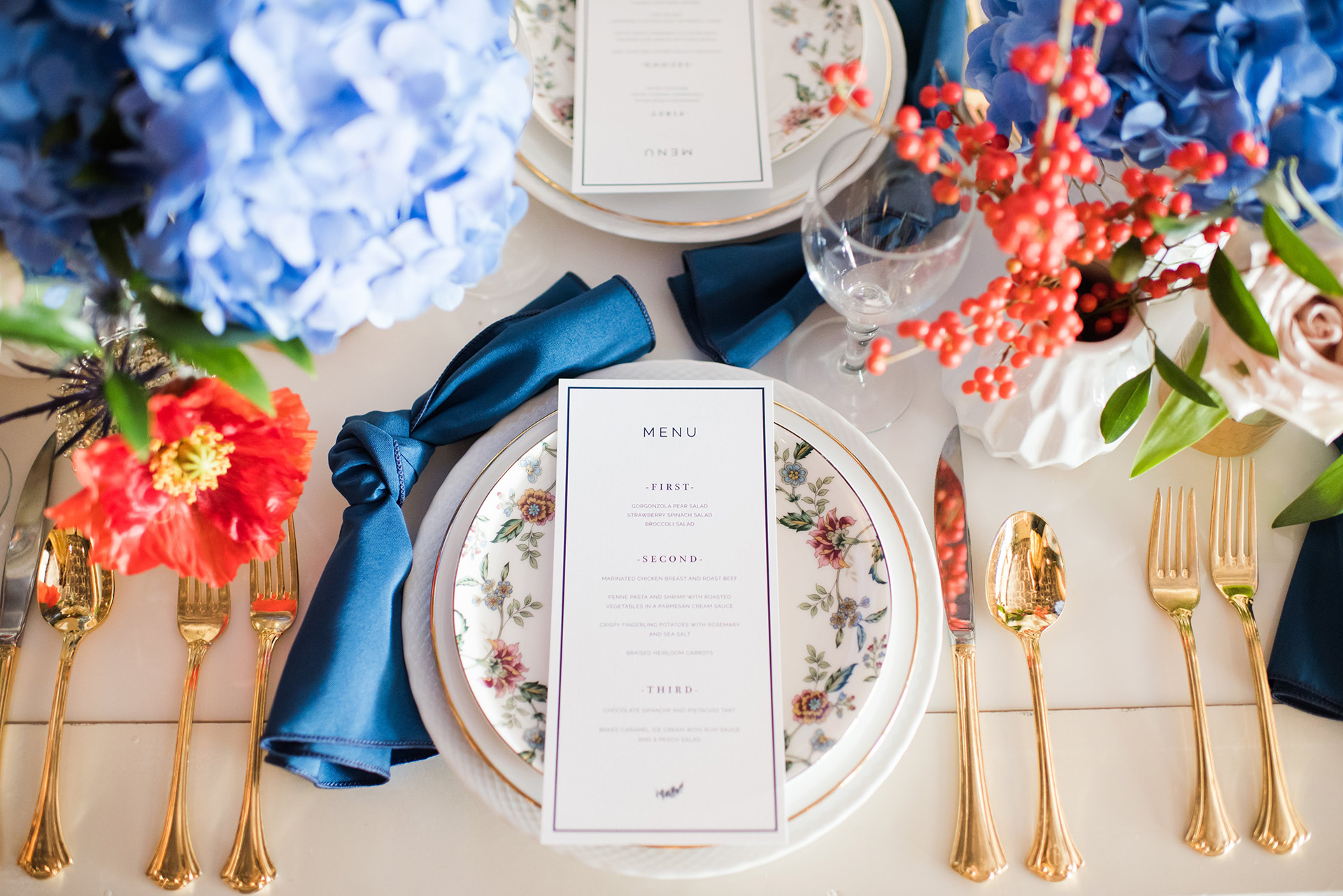 China Chargers and Flatware Slider - Kati Hewitt Photography