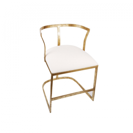 Gold Strapless Contemporary Chair