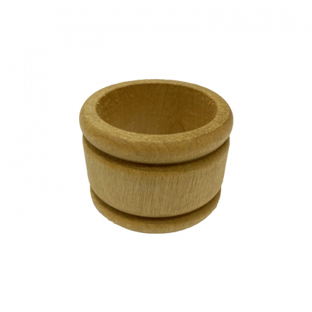 Grooved Natural Wood Napkin Ring